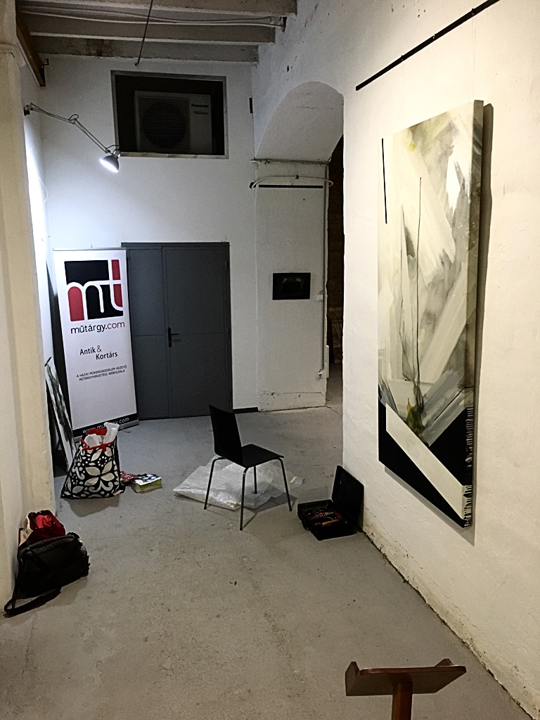 """Preparing the """"Show Yourself!"""" group exhibition."""
