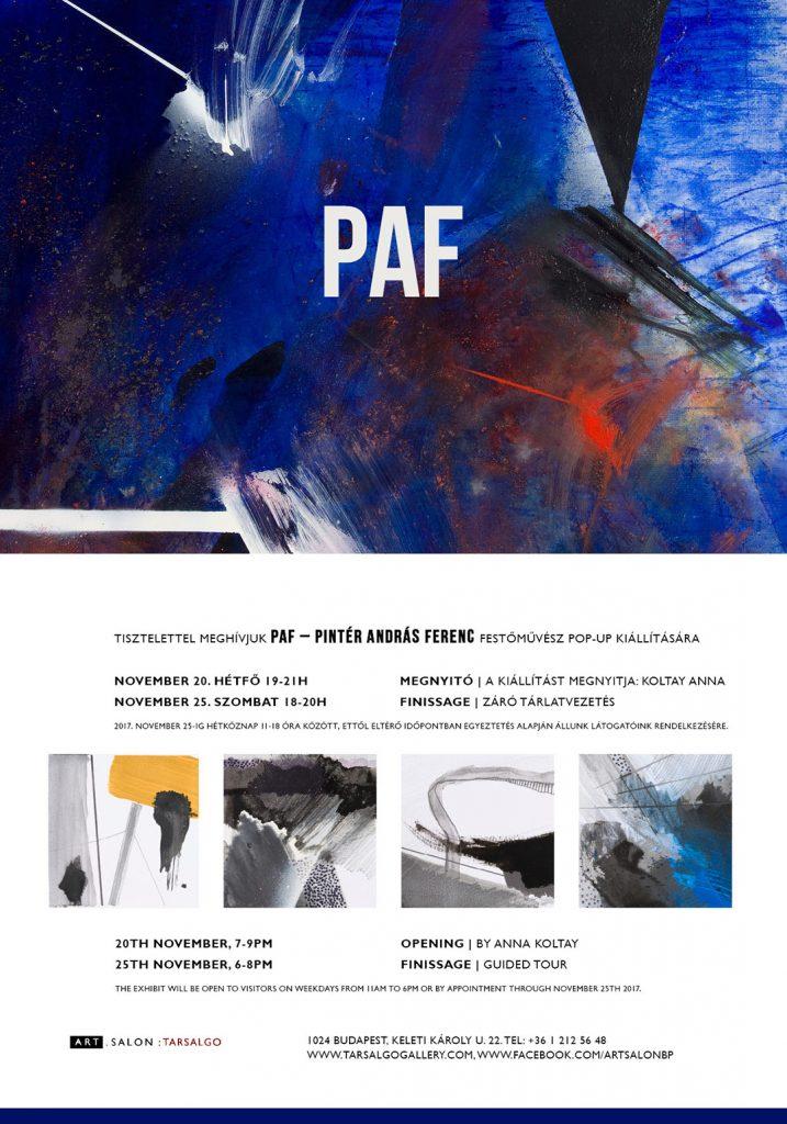 PAF pop-up exhibition